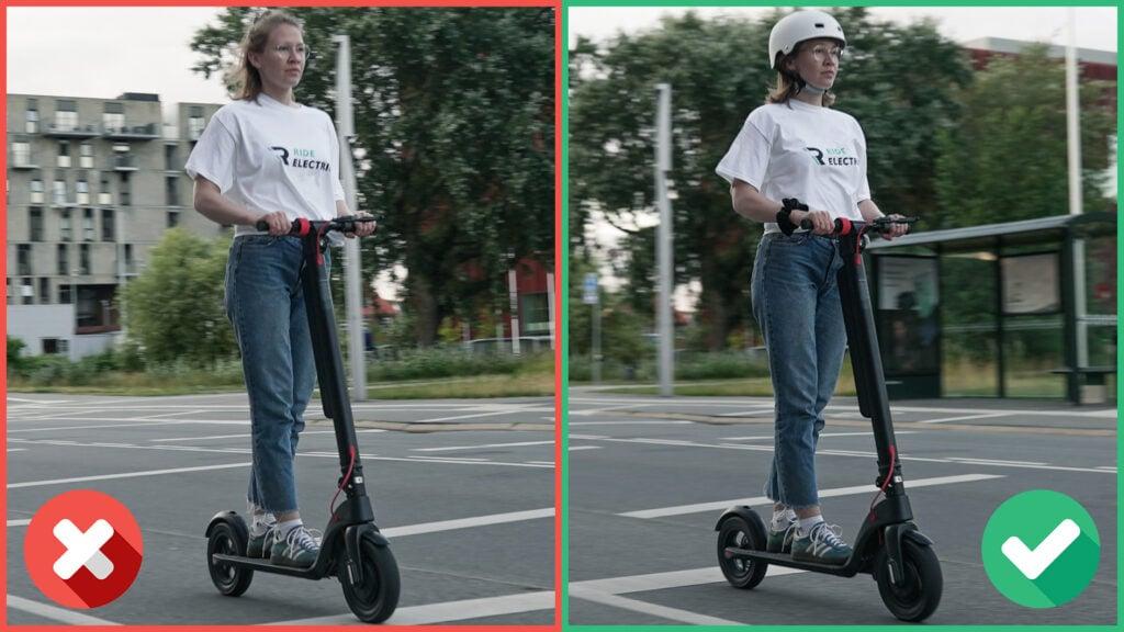 husk hjelm når du kører el-løbehjul